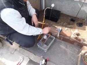 本管割、水道管引き込み工事 神戸市兵庫区