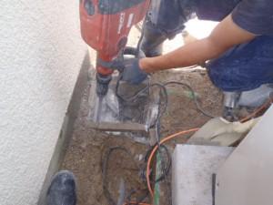 排水桝の調査と取替え工事 玄関前高圧洗浄 神戸市