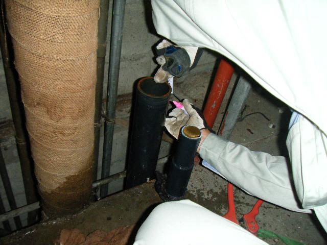 給水管の配管工事~鉄管から塩ビ管へ~ 西宮市 某ハイツ