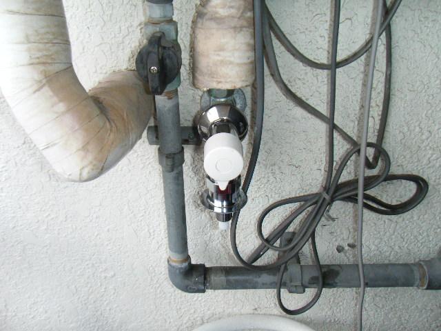 洗濯水栓の緊急止水弁の交換 神戸市長田区