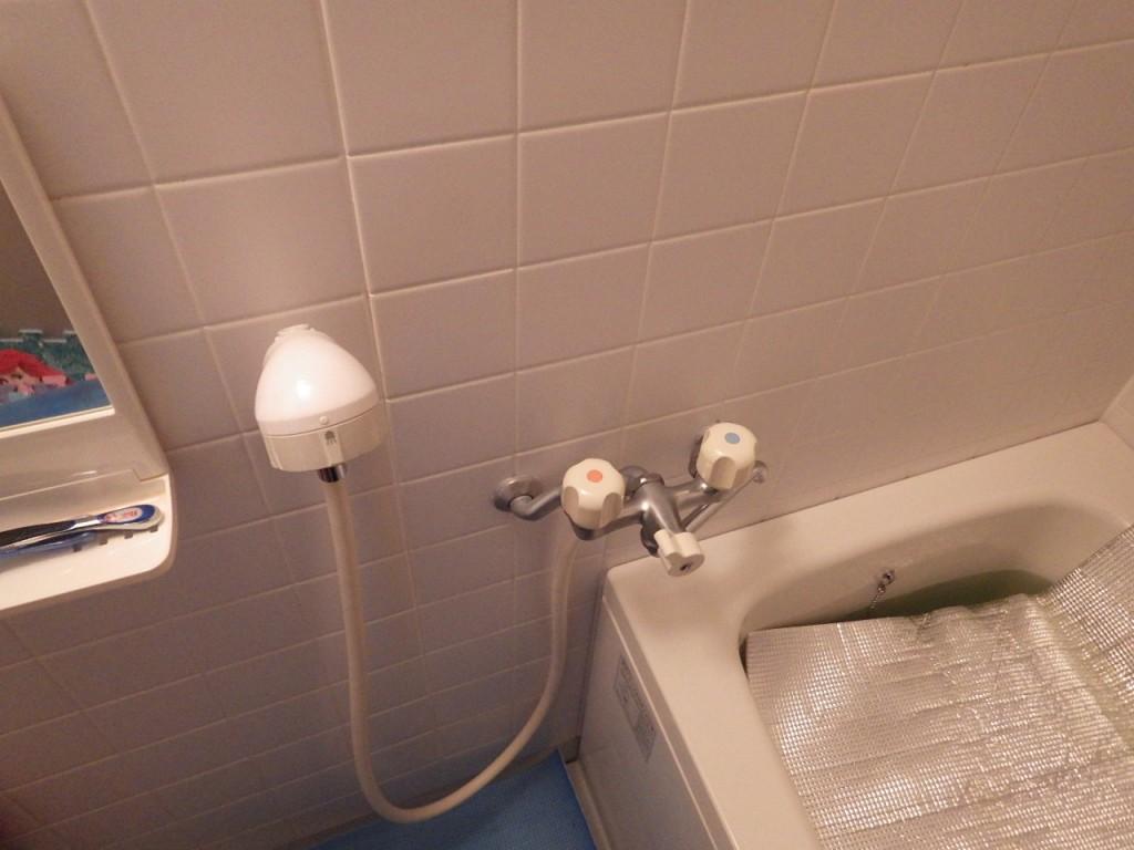 賃貸ハイツ浴室シャワー水栓金具の交換 神戸市長田区