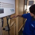 工事中 GT-1650 ガスふろ給湯器 配管 交換 施工