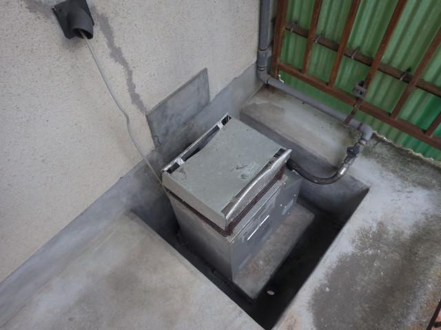 ガス風呂釜 給湯器へ 交換前
