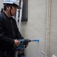 給水管 引換え工事 穴あけ 作業 引き直し トラブラン