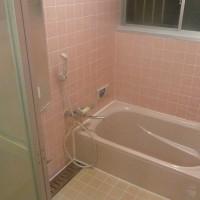 浴室 ピンク 浴槽 リフォーム 取り換え
