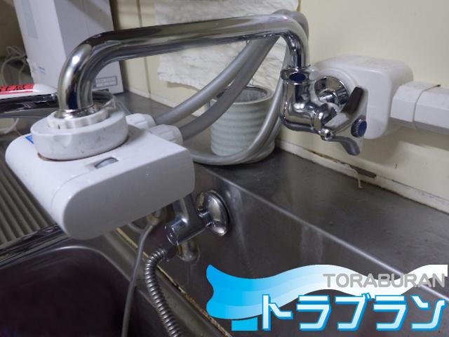 キッチン 水栓 スパウト 浄水器 交換