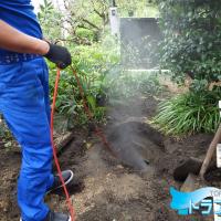 雨水 桝 洗管 作業中 高圧洗浄 トラブラン