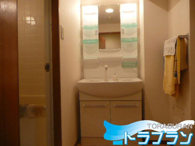 洗面台 シャンピーヌ 取替 交換工事 施工 シャワー
