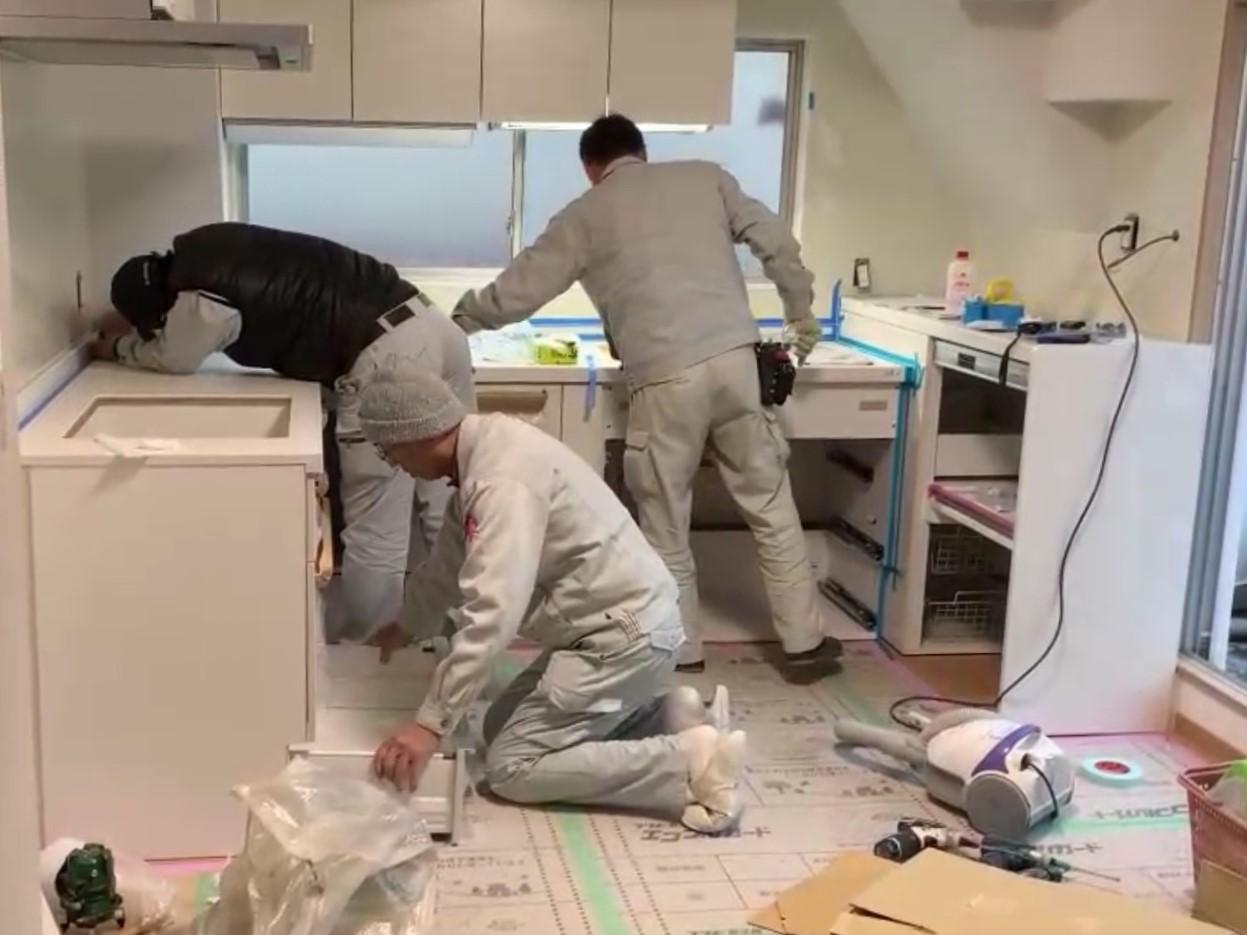 全室リフォーム キッチン入替 内装 トラブラン