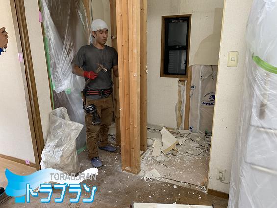 神戸市 戸建てリフォーム 浴室 脱衣所 洗面台 キッチン リビング トラブラン
