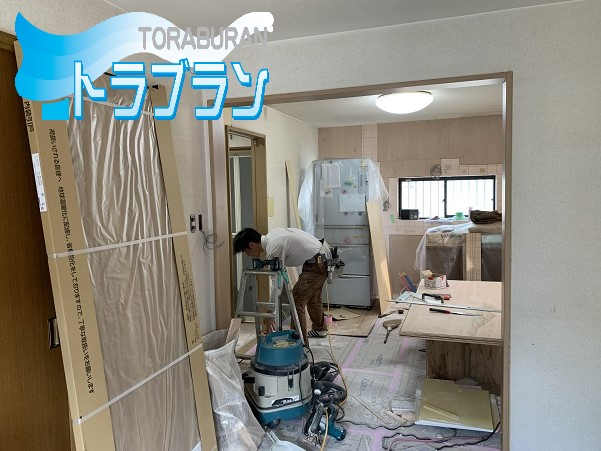 戸建 リフォーム キッチン リビング 浴室 洗面所 脱衣所 造作工事 トラブラン