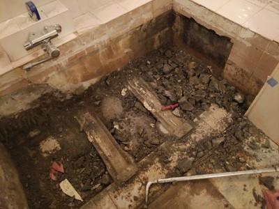 浴槽撤去 ホテル浴槽 リフォーム 神戸市 トラブラン