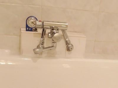 浴室水栓 リフォーム後 延長ソケット KVK トラブラン