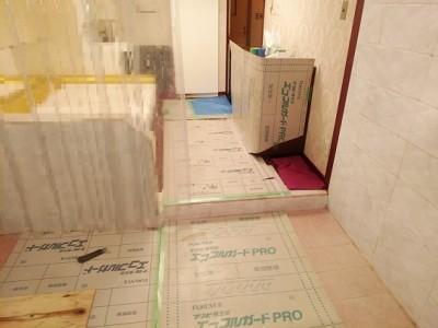 浴槽リフォーム 交換 作業 養生シート トラブラン