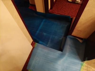 浴室リフォーム 養生シート 浴槽交換 トラブラン