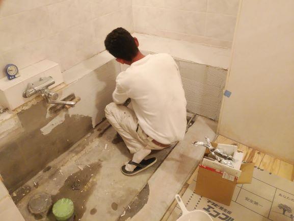 浴槽交換 店舗 タイル貼替 リフォーム トラブラン 神戸