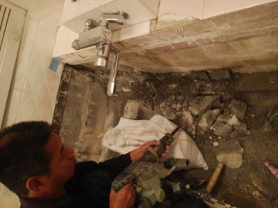 浴槽撤去 取り壊し 浴室リフォーム ホテル 神戸市