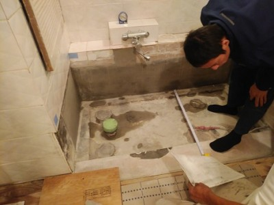 お風呂のリフォーム 浴槽交換 タイル 寸法確認 トラブラン