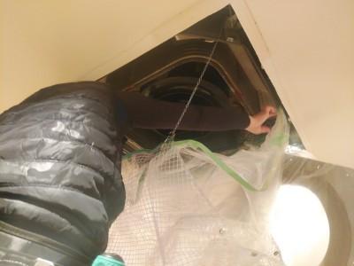 エアコン内部洗浄 業務用 汚水 神戸市 トラブラン