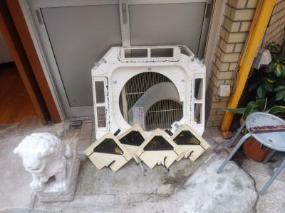 エアコン部品 洗浄後 乾燥 取付前 トラブラン