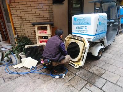 エアコンカバー 洗浄中 汚れ 飲食店 埋込型エアコン トラブラン