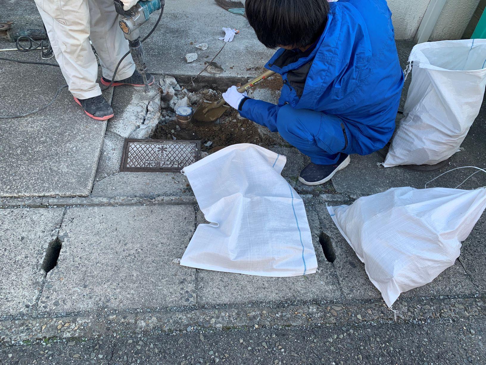 水道メーターBOX 交換 工事 神戸市 マンション トラブラン