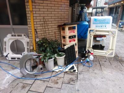 取り外し部品 乾燥中 取付前 清掃 業務用 トラブラン