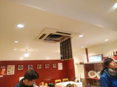 飲食店エアコン クリーニング 洗浄 中央区 トラブラン