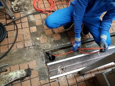 排水管 詰まり 高圧洗浄 神戸市 飲食店 店舗 トラブラン