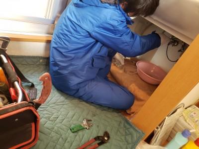 洗面台 交換工事 取替え 神戸市 トラブラン