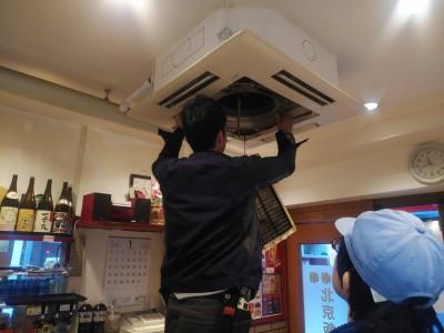 天井埋込型 店舗 業務用 清掃  修繕 神戸市 トラブラン
