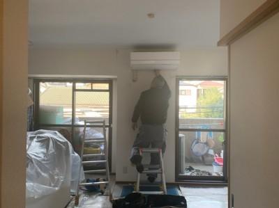 エアコン取り外し作業 戸建て 神戸市 中央区 トラブラン