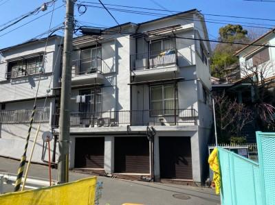 瓦屋根 修繕 台風被害 足場の設置 工事 長田区 トラブラン