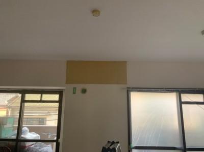 補強板 設置後 石膏ボード取付 エアコン用 トラブラン