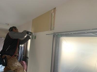 石膏ボード 取付け 壁補修 エアコン 補強 トラブラン