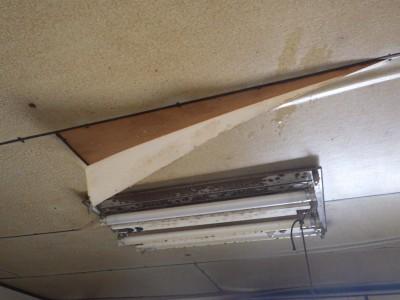 台風被害 雨漏り 台風10号 天井壁外破損 修繕 トラブラン
