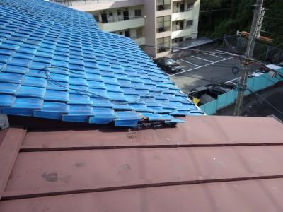 台風10号 雨漏り被害 現場調査 瓦屋根破損 トラブラン