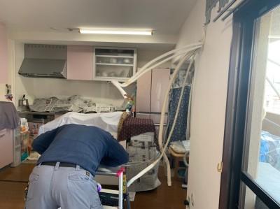 壁補強後 据付板取付 エアコン 取付け作業 トラブラン