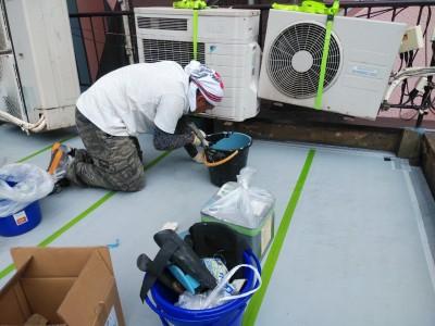 通気緩衝工法 ウレタン防水塗布 防水シート トラブラン