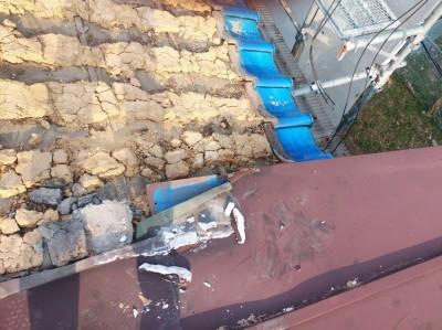 台風 山からの風 被害 修繕 屋根  トラブラン 神戸市