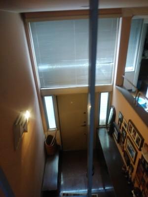 玄関 吹き抜け 天井 ダウンライト 修繕 漏水 トラブラン