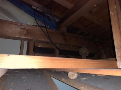 台風10号 被害 リフォーム 雨漏り 天井上 屋根 トラブラン