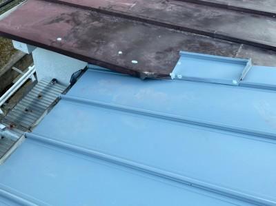 台風被害 雨漏り 天井破損 修繕 ガルバリウム鋼板 トラブラン