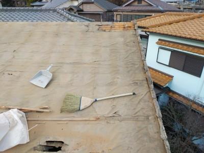 葺き替え 防水紙 台風 神戸市 トラブラン