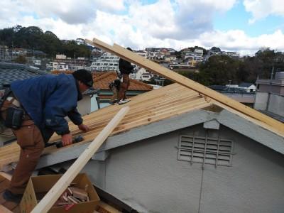 葺き替え工事 垂木 たるき 設置 トラブラン