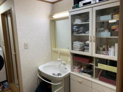 交換前 洗面台 神戸市 リフォーム トラブラン