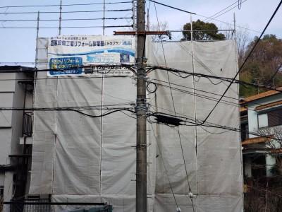工事 台風被害 足場の設置 修繕 神戸市 トラブラン
