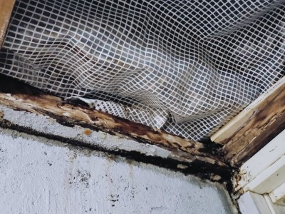 雨漏り修繕 天井貼替 リフォーム 施工前 トラブラン