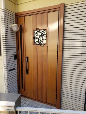 玄関ドア かんたんドアリモ N13 リフォーム トラブラン