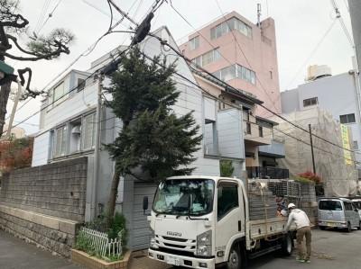 戸建住宅 工事 外壁塗装 足場組立 神戸市 トラブラン